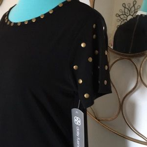 NWT DAISY FUENTES small studded top